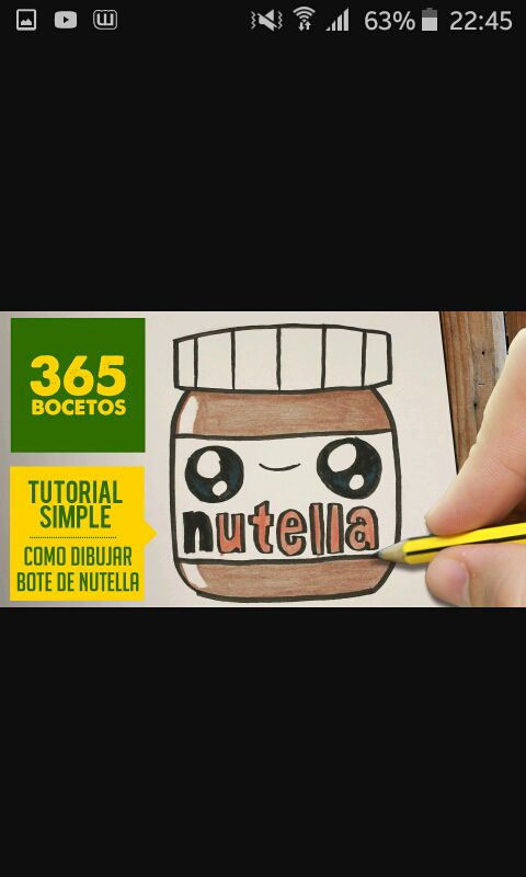 Dibujos Kawaii Nutella Wattpad
