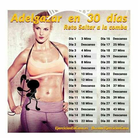 Rutina para bajar de peso saltando la cuerda
