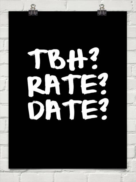 Date Favorite Funny Rate Tbh