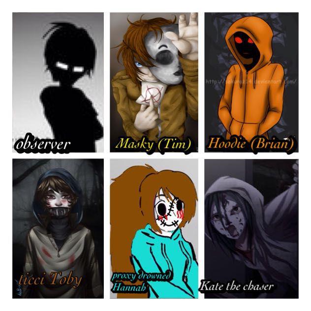 Hannah x kate x masky x hoodie x ticci toby x observer wattpad