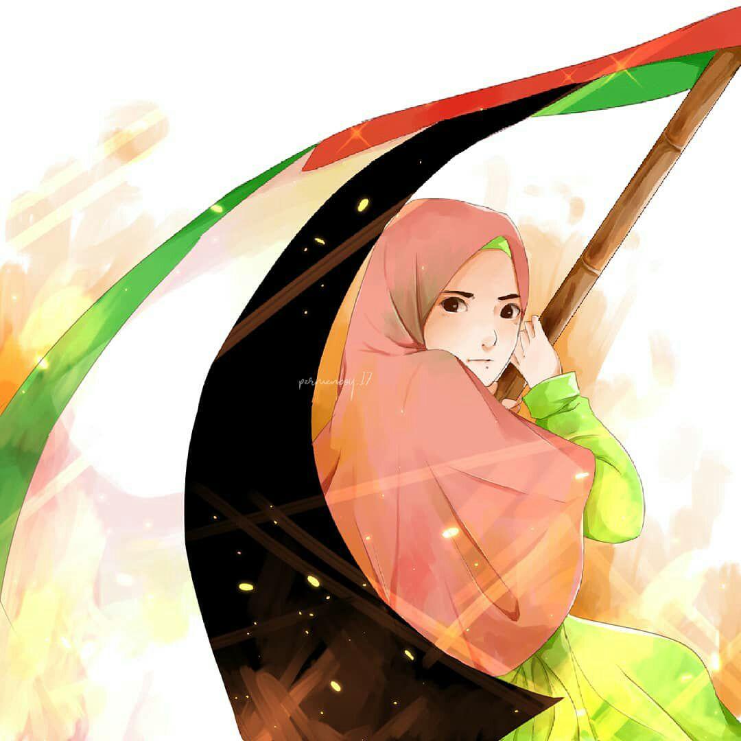 Paling Bagus 12 Gambar Kartun Muslimah Palestina Gani Gambar