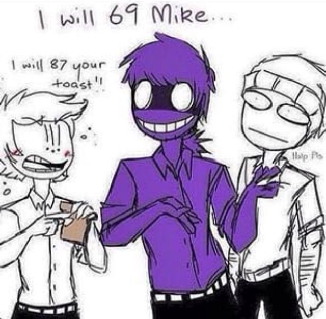 Dare or ask the fnaf guards on hold vincent kiss mike and