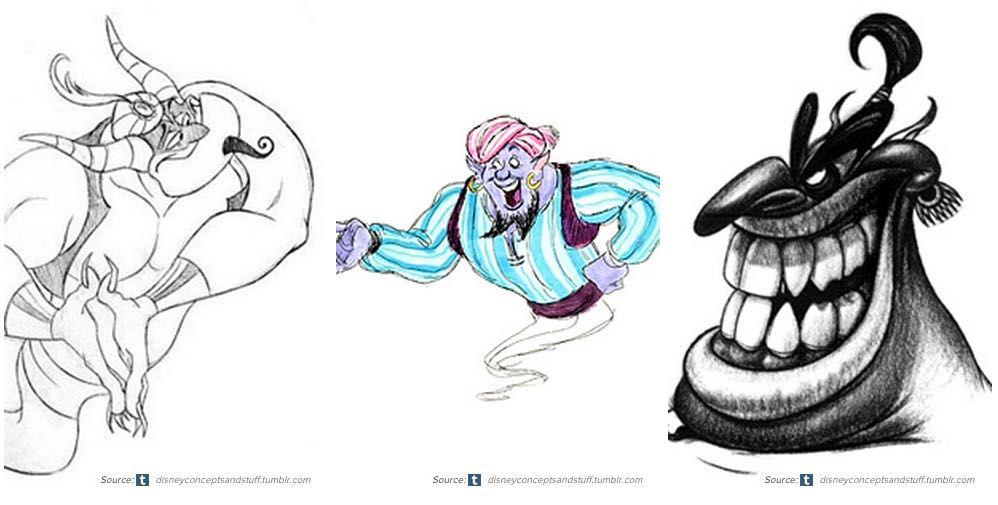 Disney Aladdin Character Design : Original disney genie aladdin concept art wattpad