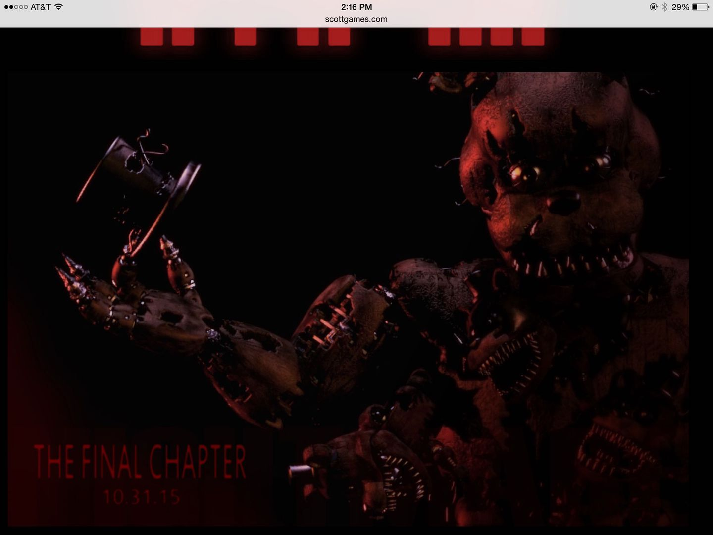 Fnaf facts and theories old quot nightmare quot phone guy stuffed inside