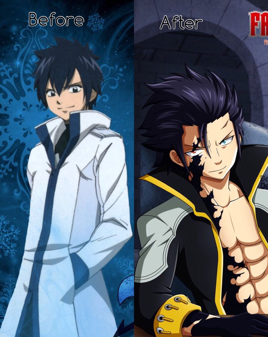 Fairy tail amp soul eater pictures pt 2 gray fullbuster before and