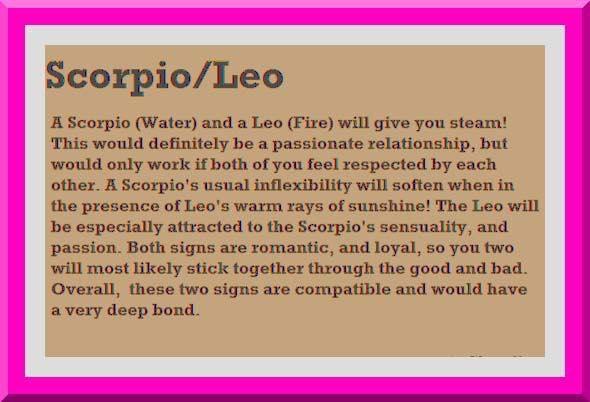 Scorpio and leo couples