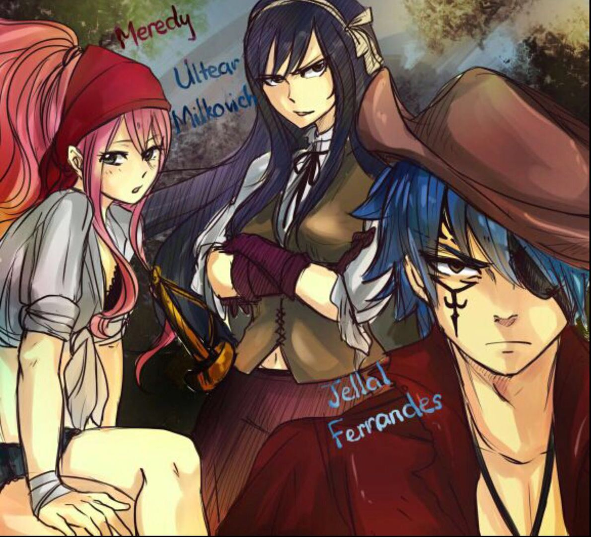 Pics of fairytail - Jellal, Meredy,and Ultear as pirates ...