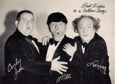 larry moe and curley The three stooges larry curly moe rare tv playing card - $1295 the three stooges larry curly moe raretv playing card the three stooges were an american vaudeville and comedy act of the early to mid–20th century best known for their numerous short subject films.