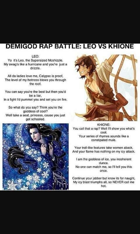 percy jackson pictures and jokes book leo vs khione