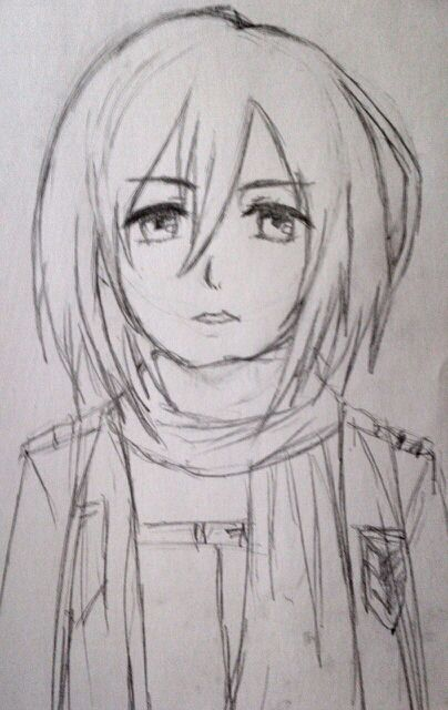 Sketches Ideas Drawing Tips And How To Draw Mikasa