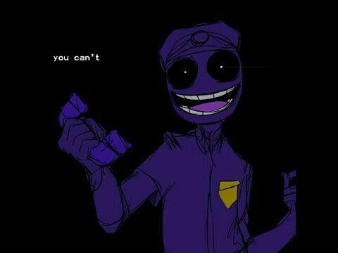 Purple Guy On Hold