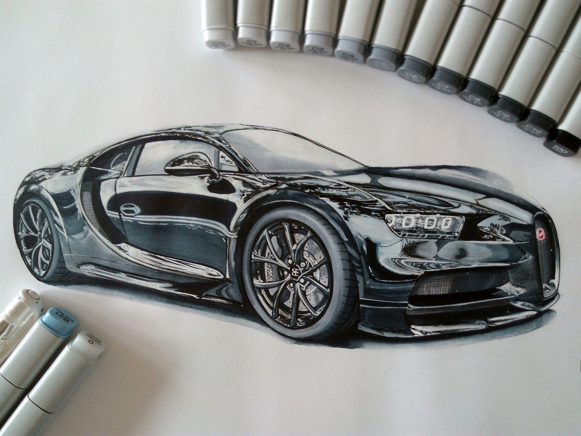 My Drawings - Teil 1 - Bugatti Chiron - Wattpad