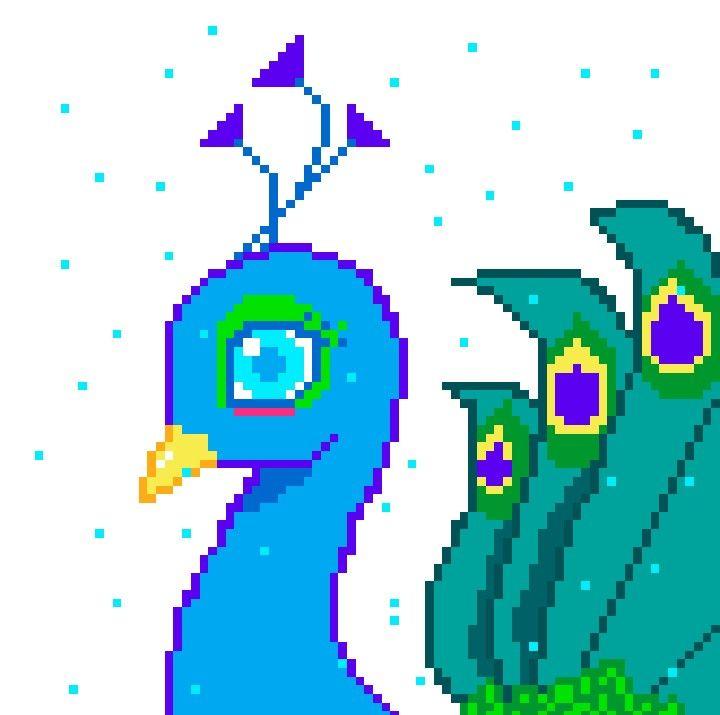 Mes Pixel Art 14 Paon Wattpad