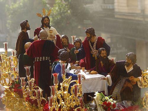 Resultado de imagen de La Hermandad Sacramental de Jesús Salvador en su Santa Cena y María Santísima de la Caridad y Consolación
