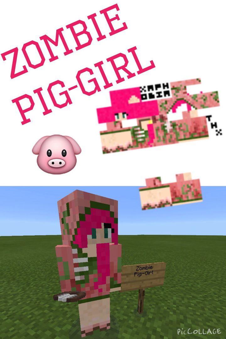 Minecraft Skins For PE Zombie PigGirl Wattpad - Skin para minecraft pe zombie