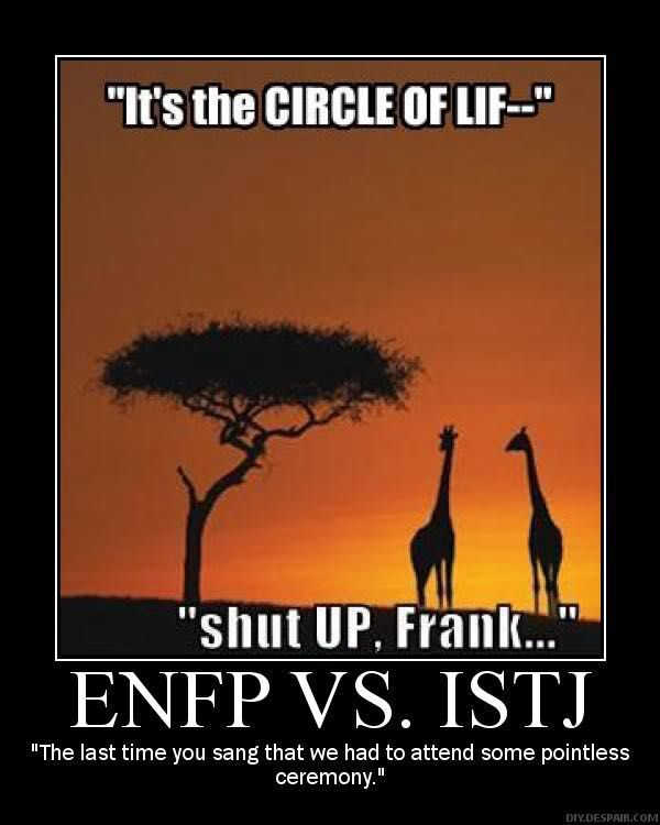 relationship between enfj and istj