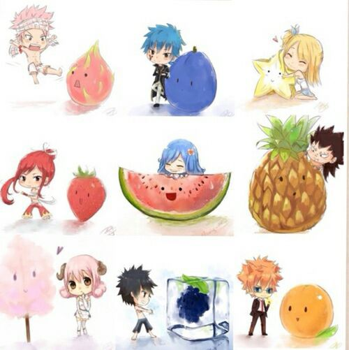 Fairy Tail CRACK!!! - Fairy Tail Character Favorite Fruits