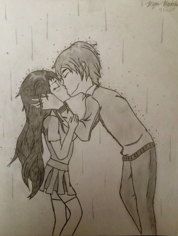 My Anime Drawing Book (Finished) - Anime Couple Kissing in ...