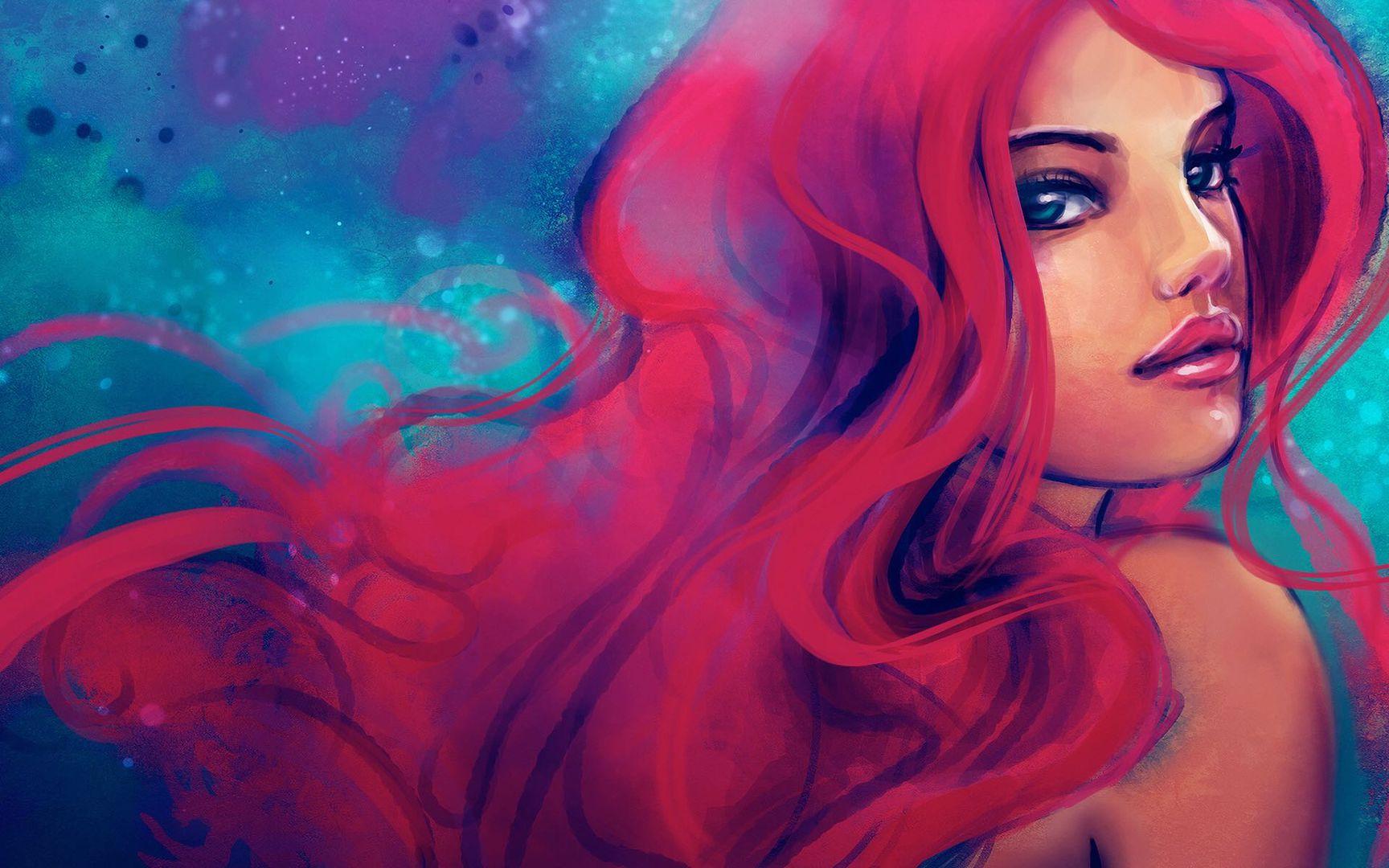 Ragazza dai capelli rossi in inglese