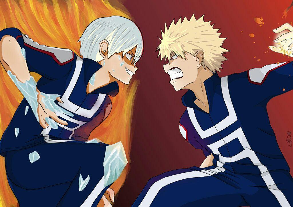 My Hero Academia Boys X Reader {OneShots} - Bakugou/Todoroki
