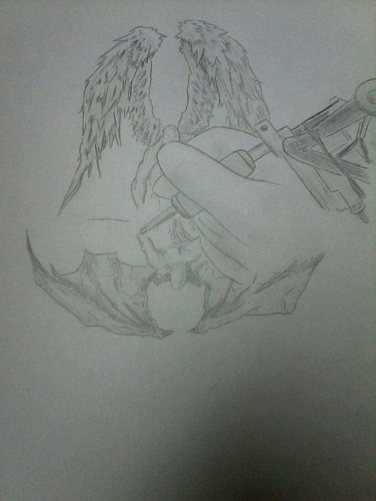 Dessin Ange Realiste mes dessins - ange et démon - wattpad