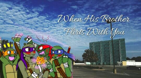 TMNT x Reader Scenarios - When His Brother Flirts With You