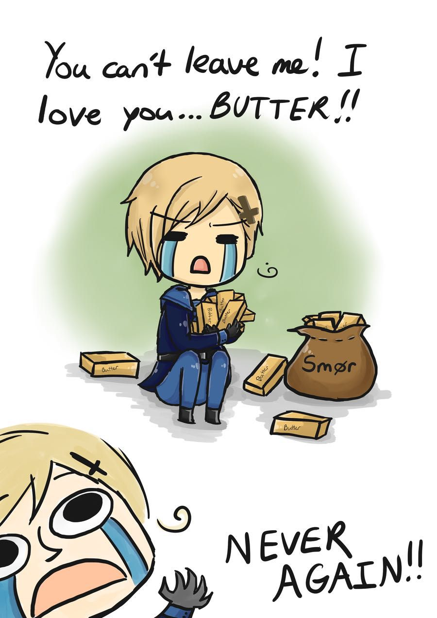 Hetalia Awesomeness of Awesome! One-Shots - Norway's Butter Crisis ...