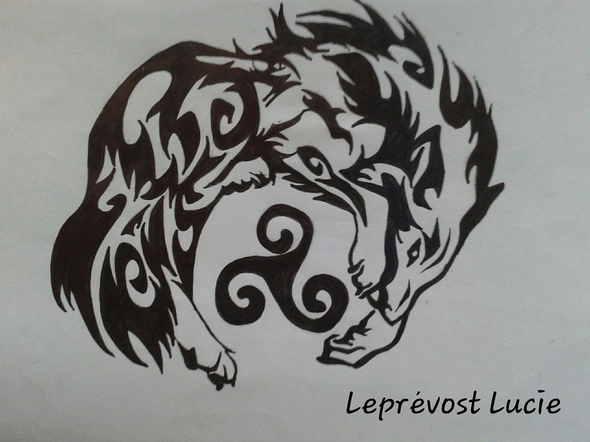 Dessin Celtique mes dessins ^^ - 15.loup celtique - wattpad
