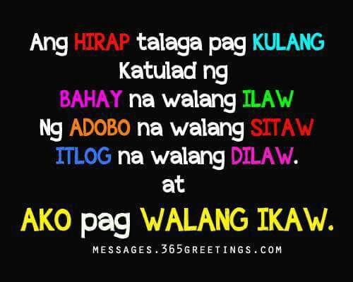 Love Quotes For Special Someone Tagalog: JOKES,QUOTES, PANAMA, AND HUGOT LINES