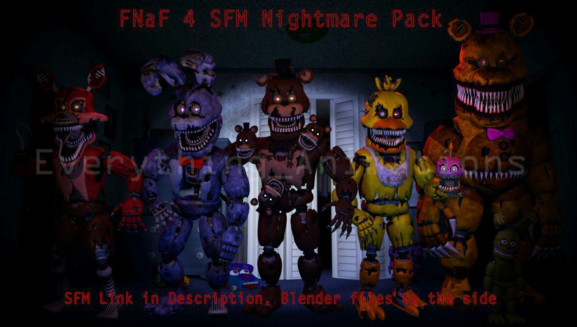 All The Characters From Five Nights At Freddys 4