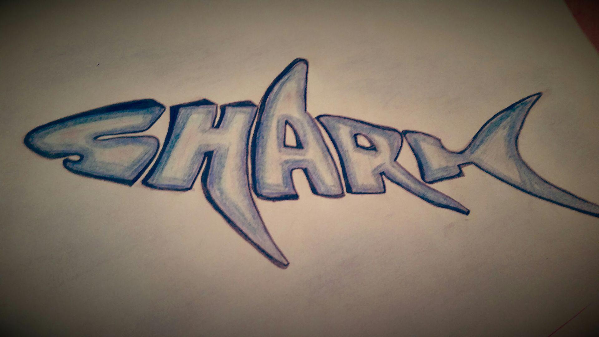 My Drawings Shark Word Art Wattpad