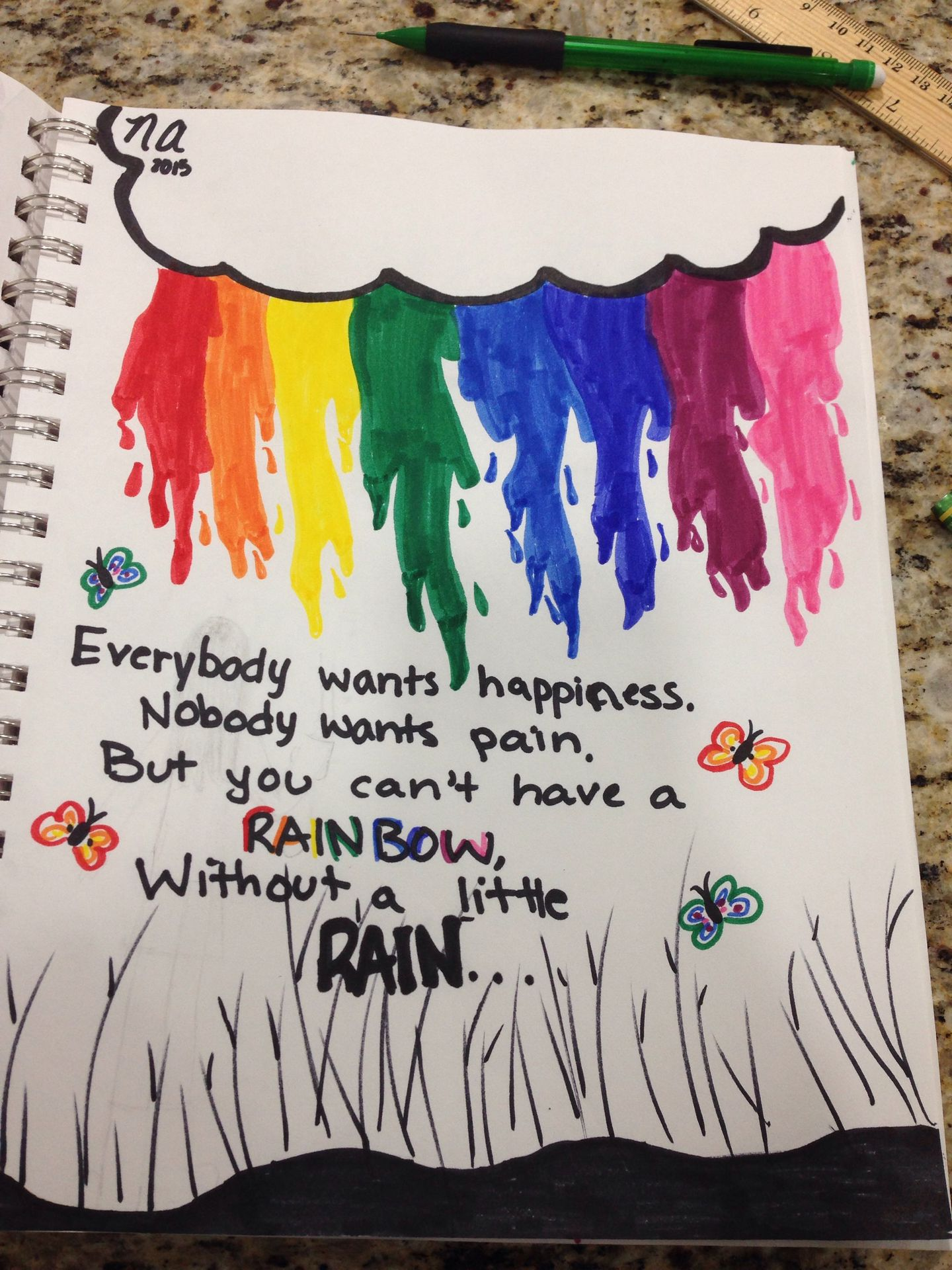 Just Some Drawings Rainbow Quote Wattpad