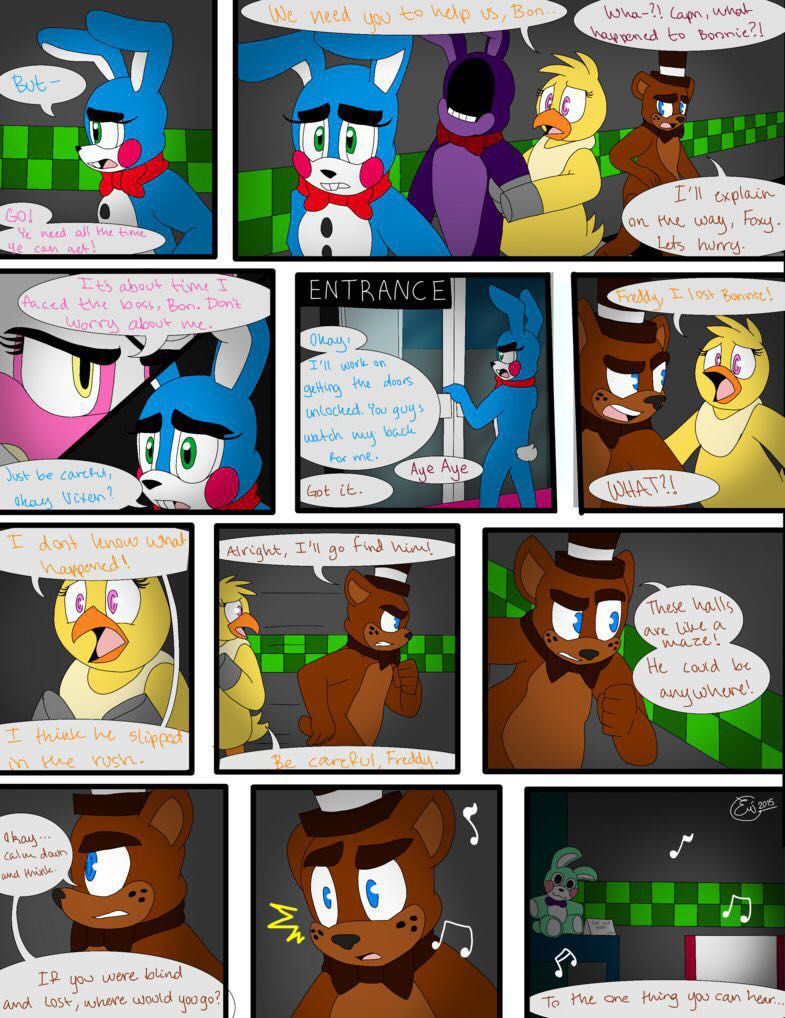 Fnaf Comics En Español out with the old comic - page 24 - wattpad