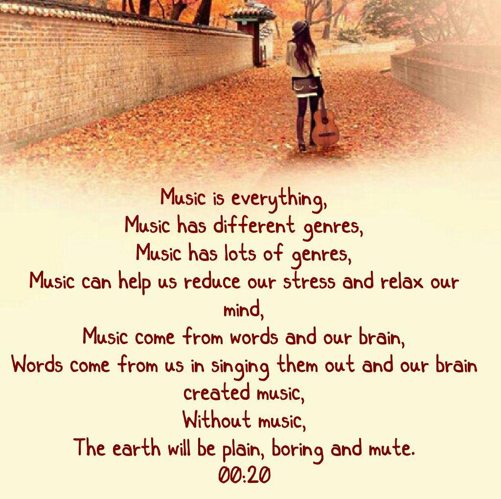 My Love In Poem - Music Is Everything 00:20 - Wattpad