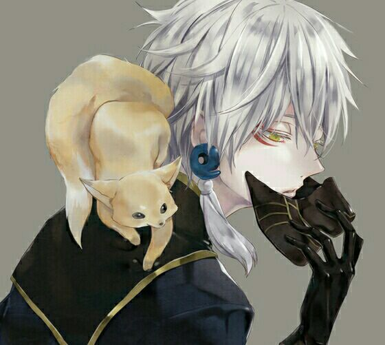 Anime Characters Grey Hair : Touken ranbu on crack nakigitsune reader tell me your
