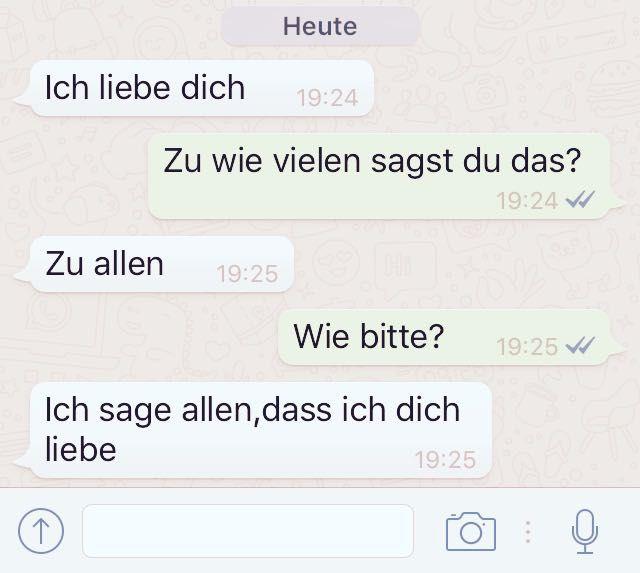 Chats liebe whatsapp süße Liebes Status