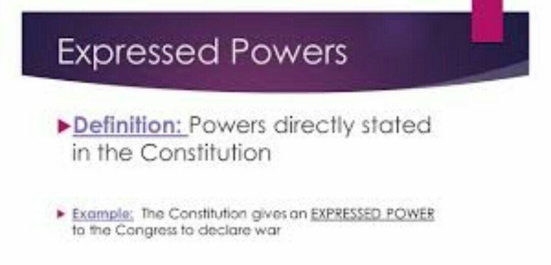 An Inside Look On Congress Expressed Power Wattpad