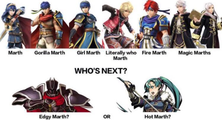 Introducing The Next In The Marth Series Literally Who Marth