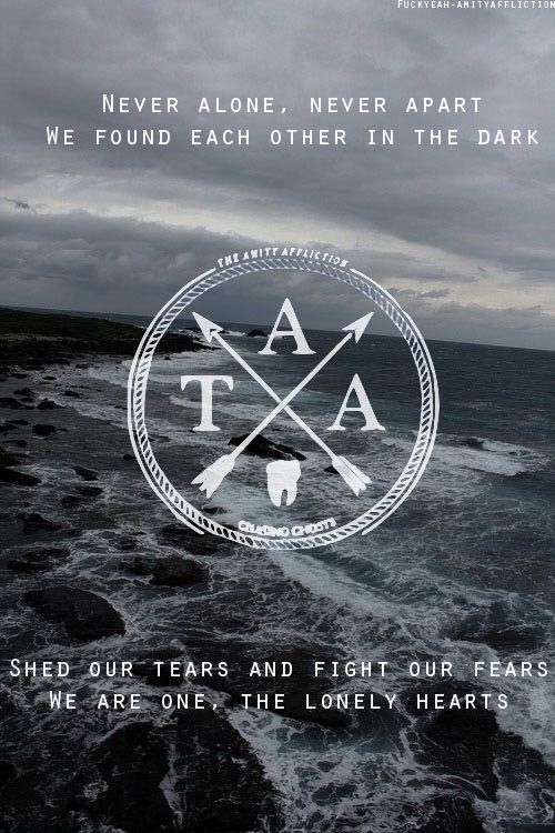 Song Lyrics - Never Alone - The Amity Affliction - Wattpad