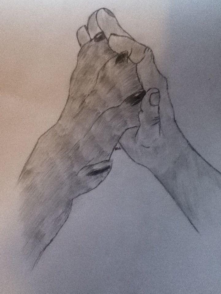 Drawings 2 Dog Paw And Human Hand Wattpad