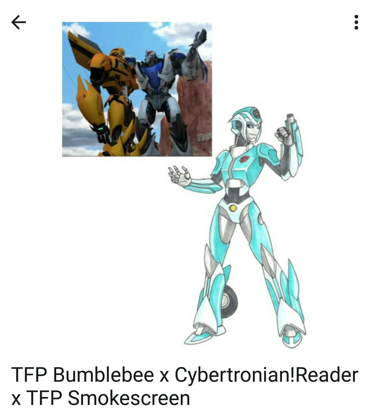 So In Love With Two (One Shots) - TFP Bumblebee x Autobot