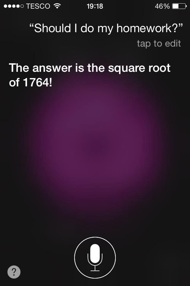 Siri help me with my homework