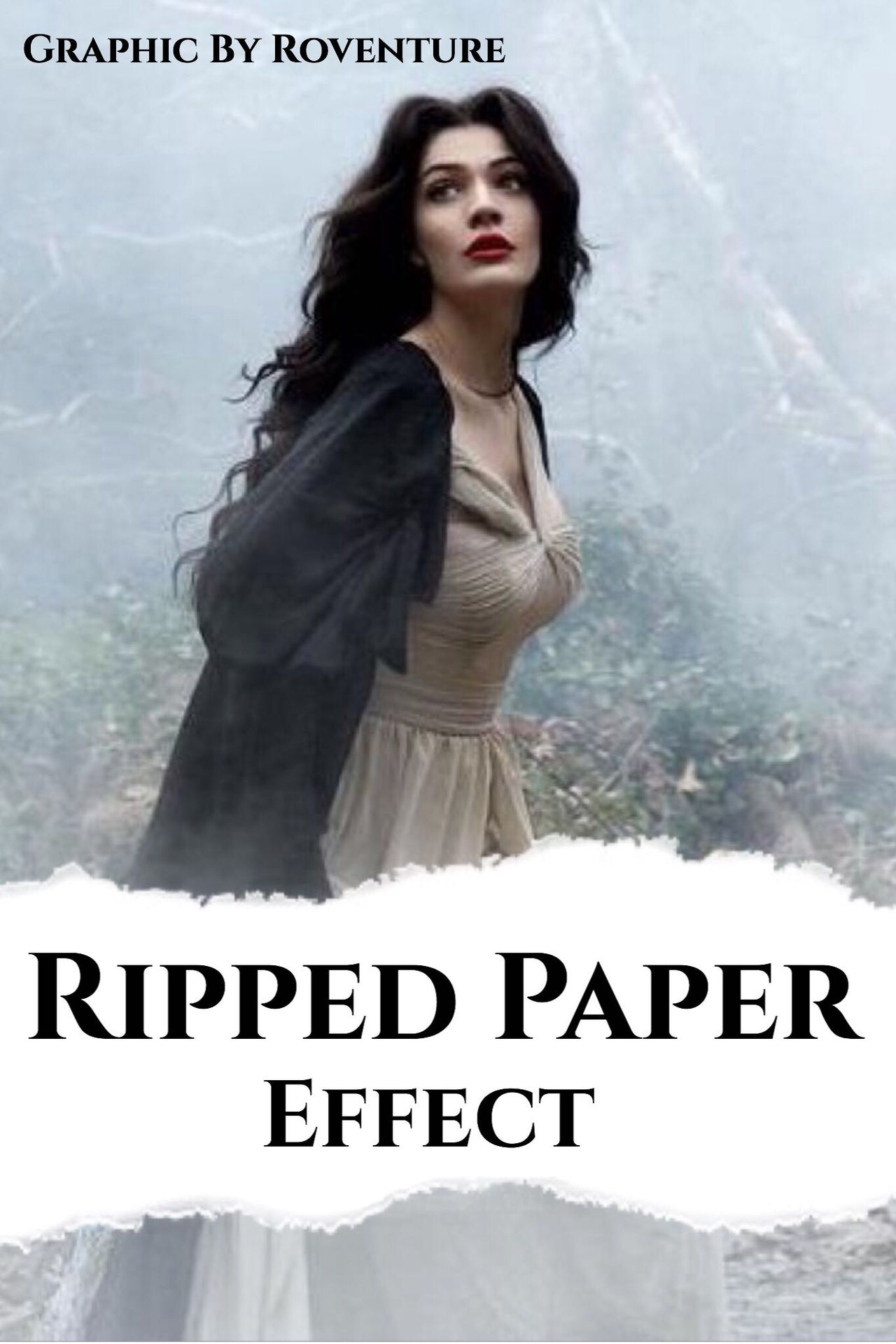 cover templates and tutorials - ripped paper effect