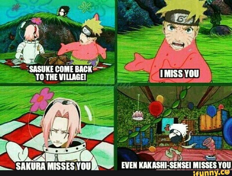 Funny Naruto Memes Completed Spongebob Wattpad