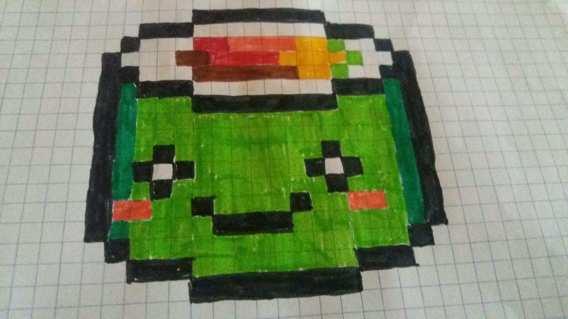 Pixel Art Kawaii Facile Nourriture