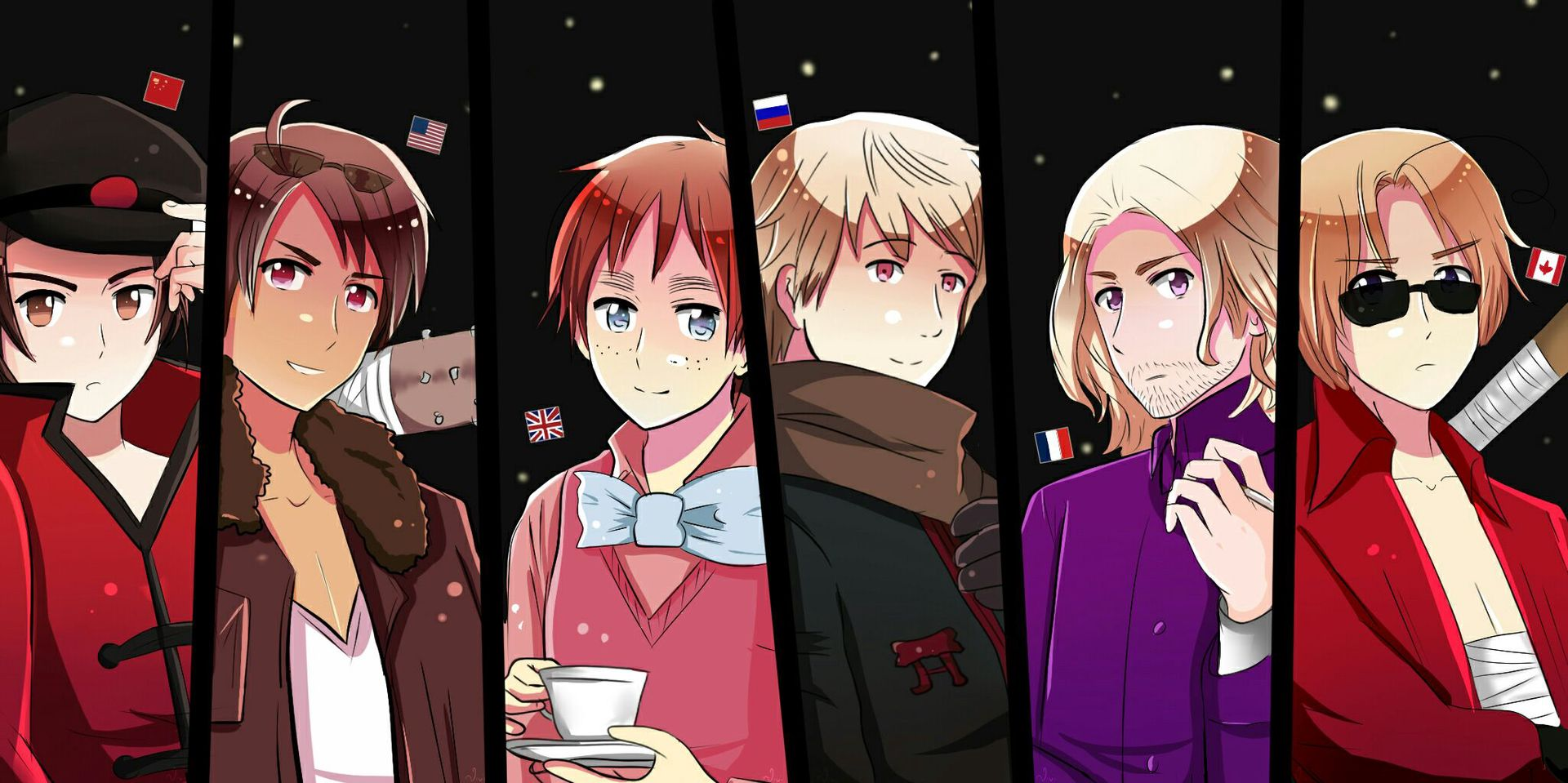 Hetalia x tortured reader