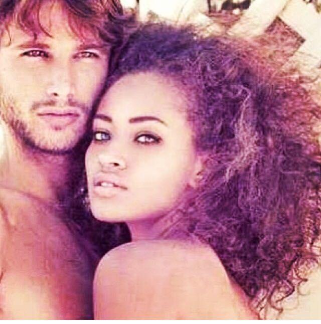 black girl and white boy couple
