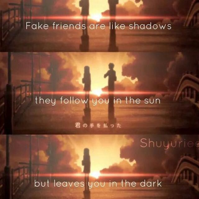 Anime Quotes Fake Friends Wattpad Enchanting Anime Quotes About Friendship