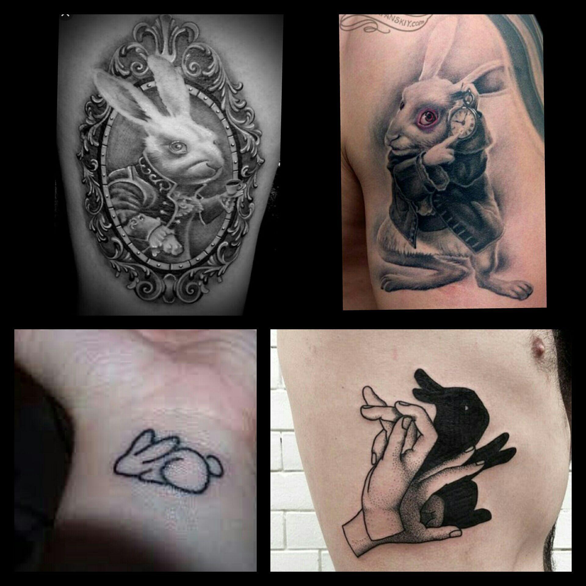 Significations de tatouages symboles le lapin wattpad - Tatouage alice au pays des merveilles ...