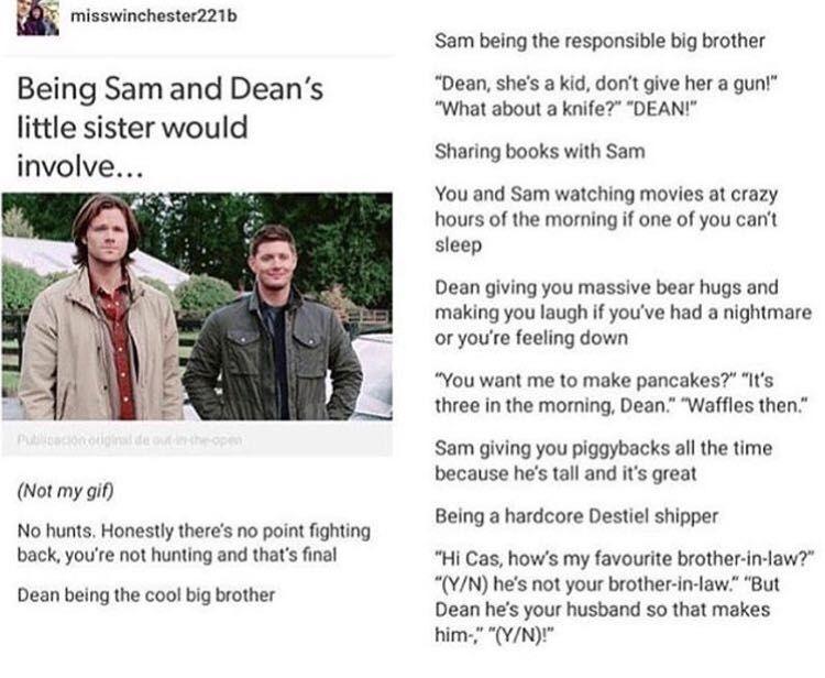 Supernatural One Shots - The Breakup (Sister!Reader x Dean x Sam) h